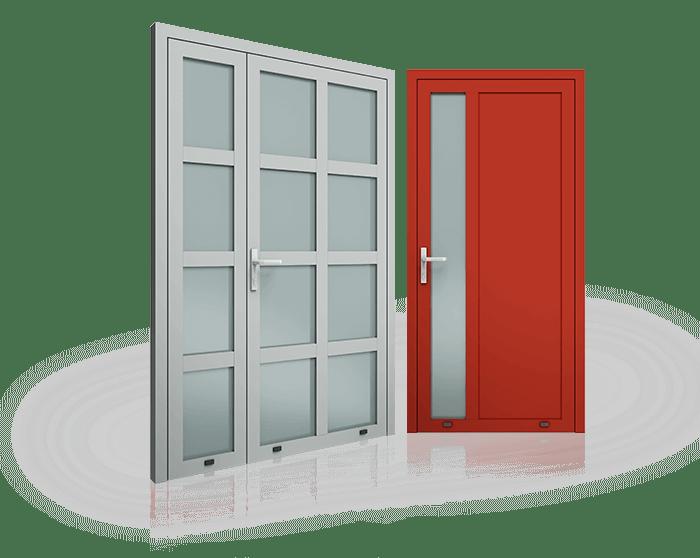 Drzwi PlusLine 1 - Drzwi aluminiowe - Wiśniowski