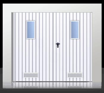 brama rozwierna dwuskrzydlowa okienka wentylacja - Bramy rozwierne