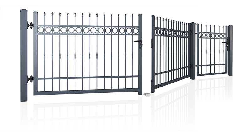 bramy ogrodzeniowe dwuskrzydlowe i furtki wisniowski 1 - Bramy skrzydłowe i furtki