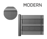 modern - Ogrodzenia