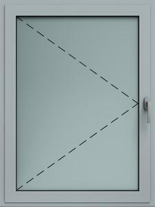 okno alu rozwierne wisniowski - Okna aluminiowe FUTURO - Wiśniowski