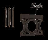 style 1 - Segmenty i słupy ogrodzeniowe