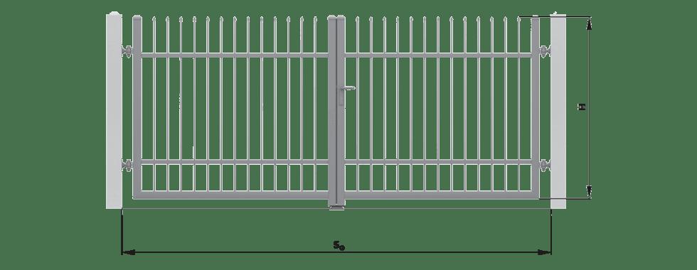wymiary montazowe brama - Bramy skrzydłowe i furtki