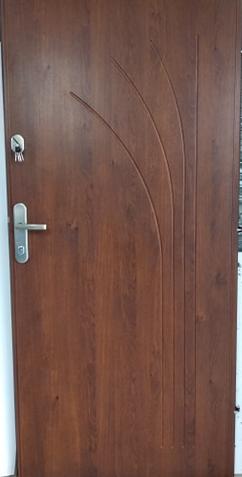1 1 - Drzwi wejściowe do mieszkania: Gerda CX10 - standard (Drzwi Lewe)