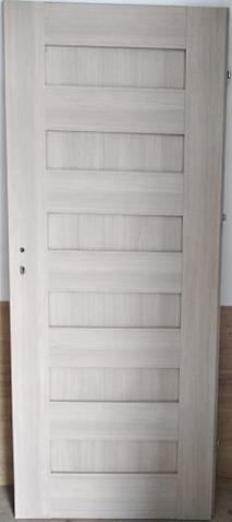 """2 26 - Drzwi wewnętrzne (Lewe) 80"""" dąb bielony ryfla"""
