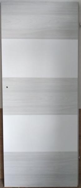 """2 29 - Drzwi wewnętrzne (Lewe) 80"""" biały/wiąz syberyjski"""