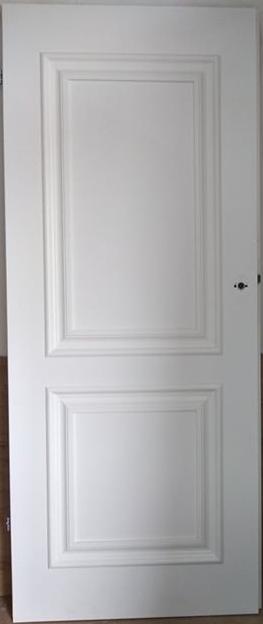 """2 34 - Drzwi wewnętrzne (Prawe) 80"""" biały"""