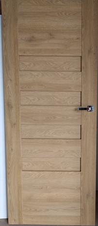 2 44 - Drzwi wewnętrzne bezprzylgowe (Lewe) 80'' buk + ościeżnica