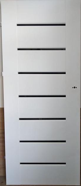 """3 26 - Drzwi wewnętrzne (Prawe) 80"""" biały"""