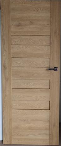 Drzwi wewnętrzne bezprzylgowe buk + ościeżnica