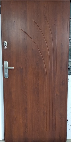 4 - Drzwi wejściowe do mieszkania: Gerda CX10 - standard (Drzwi Lewe)