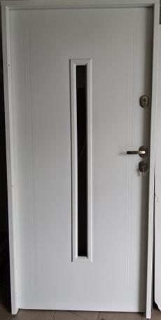 6 8 - Drzwi wejściowe uniwersalne: Gerda Q-Domino (Drzwi Prawe)