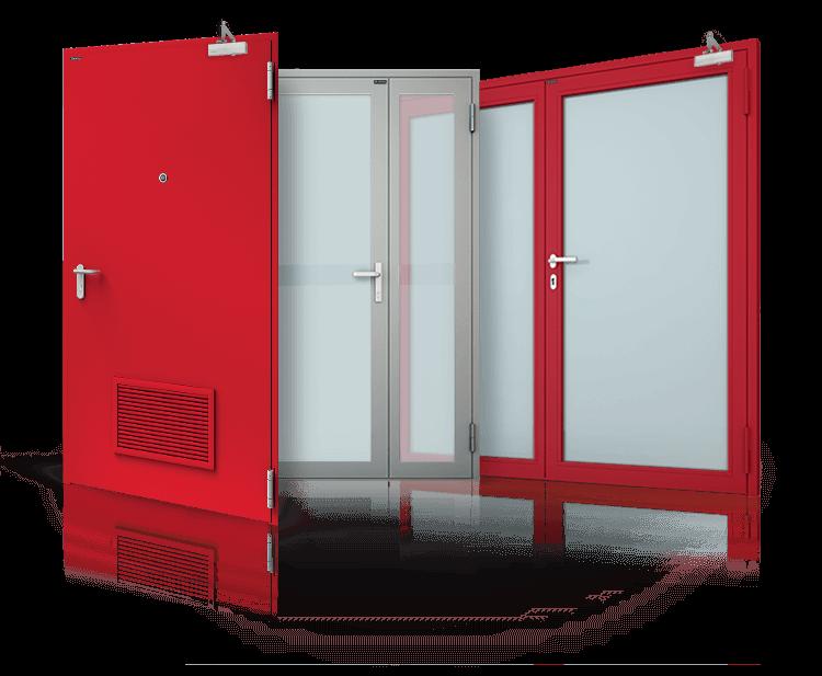 drzwi okna scianki stalowe przeciwpozarowe 1 - Stolarka Przeciwpożarowa - Wiśniowski