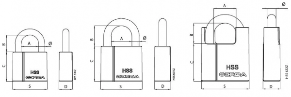 hss 600x201 - Kłódka Gerda atestowana HSS 631Z