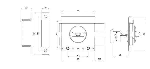zamek zx1000 600x278 - Zamek nawierzchniowy GERDA ZX 1000