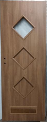"""22 1 - Drzwi wewnętrzne (Prawe) 80"""" orzech laskowy"""