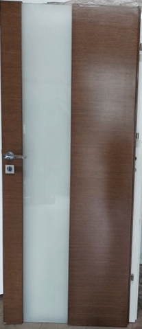 """4 21 - Drzwi wewnętrzne (Prawe) 80"""" orzech włoski"""