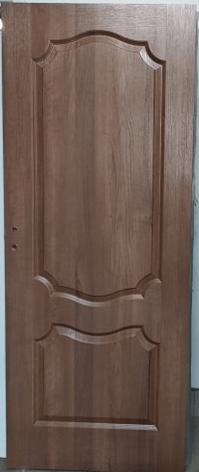 """Drzwi wewnętrzne (lewe) bezprzylgowe 80"""" 2-kolorowe orzech laskowy/ orzech ciemny"""