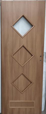 """55 - Drzwi wewnętrzne (Prawe) 80"""" orzech laskowy"""