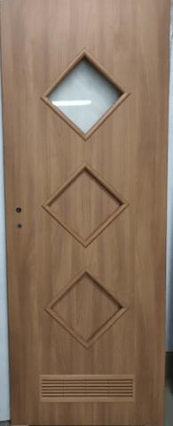 """66 - Drzwi wewnętrzne (Prawe) 80"""" orzech laskowy"""