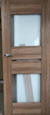 """11 - Drzwi wewnętrzne (Prawe) 80"""" kasztan"""