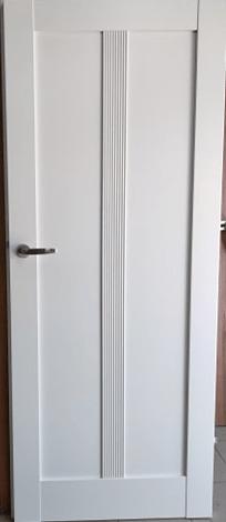 """3 - Drzwi wewnętrzne (Prawe) 80"""" biały"""