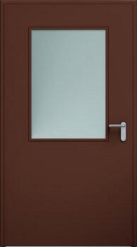 07 eco przeszklenie 650x950 ral8017 - Drzwi stalowe płaszczowe - Wiśniowski