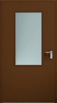 08 eco przeszklenie 550x1100 ral8014 - Drzwi stalowe płaszczowe - Wiśniowski