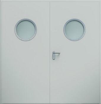 12 eco dwuskrzydlowe bulaj ral7035 - Drzwi stalowe płaszczowe - Wiśniowski