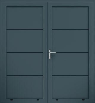 panelowe bez przetloczen dwuskrzydlowe 7016 - Drzwi boczne - Wiśniowski