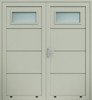 panelowe bez przetloczen przeszklenie A1 dwuskrzydlowe 7032 - Drzwi boczne - Wiśniowski