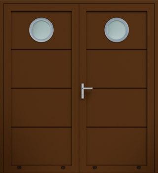 panelowe bez przetloczen przeszklenie O dwuskrzydlowe 8014 - Drzwi boczne - Wiśniowski