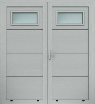 panelowe panelV przeszklenie A1 dwuskrzydlowe 9006 - Drzwi boczne - Wiśniowski