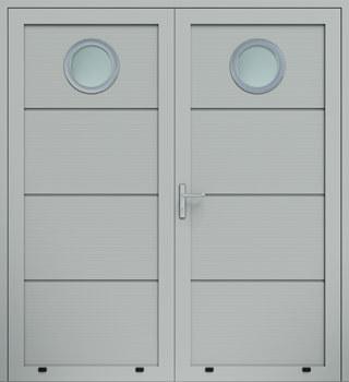 panelowe panelV przeszklenie O dwuskrzydlowe 9006 - Drzwi boczne - Wiśniowski
