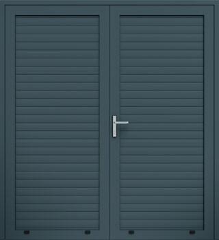 panelowe panel aw100 dwuskrzydlowe 7016 - Drzwi boczne - Wiśniowski
