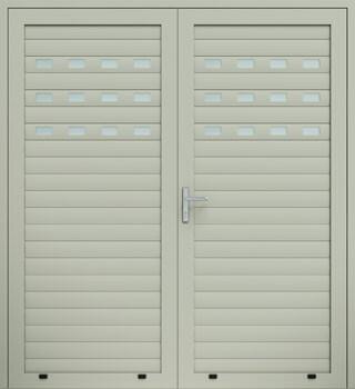 panelowe panel aw100 przeszklony dwuskrzydlowe 7032 - Drzwi boczne - Wiśniowski