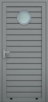 panelowe przetloczenie niskie przeszklenie O 9007 - Drzwi boczne - Wiśniowski