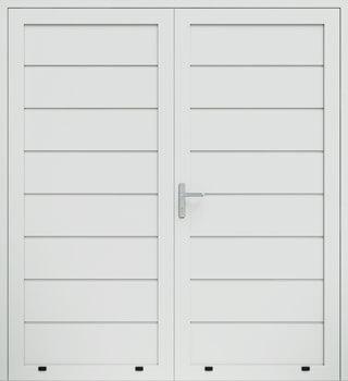 panelowe przetloczenie wysokie dwuskrzydlowe 9016 - Drzwi boczne - Wiśniowski