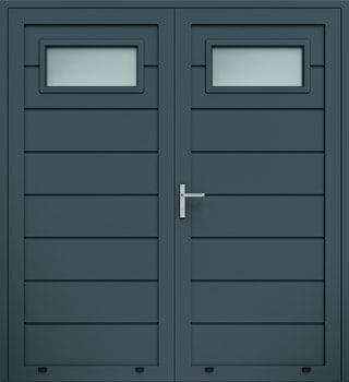 panelowe przetloczenie wysokie przeszklenie A1 dwuskrzydlowe 7016 - Drzwi boczne - Wiśniowski