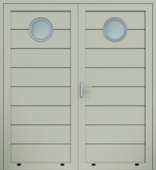 panelowe przetloczenie wysokie przeszklenie O dwuskrzydlowe 7032 - Drzwi boczne - Wiśniowski